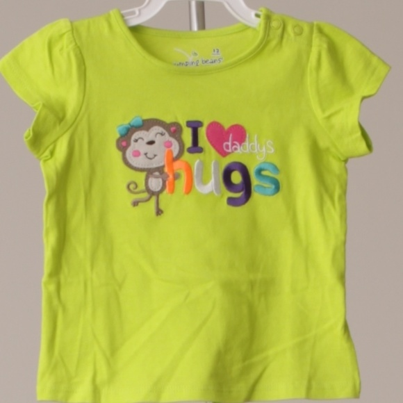 Jumping Beans Size 12 months Love the USA shirt Girls New
